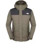The north face men s meloro parka black ink green