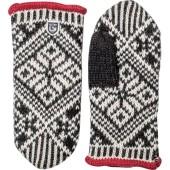 Hestra nordic wool mitt black offwhite