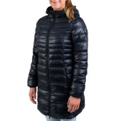 Urberg soft padded long coat black