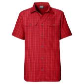 Jack wolfskin thompson shirt men red fire checks