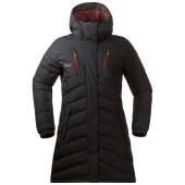 Bergans svolvaer down long lady jacket black dark maroon