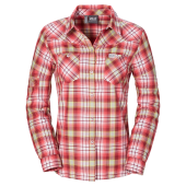Jack wolfskin gifford shirt women dried tomato checks