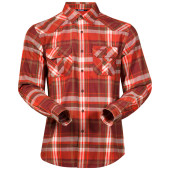 Bergans bjorli shirt dk maroon koi orange check