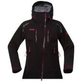 Bergans glittertind lady jacket black plum hot pink