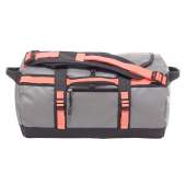 The north face base camp duffel xs zinc grey tropical coral