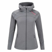 Peak performance women s kate zip hood grey melange