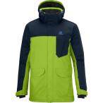 Salomon sashay jacket m organic green big blue x