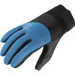 Salomon thermo glove m black blue line