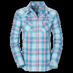 Jack wolfskin gifford shirt women lake blue checks