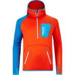 Ortovox fleece zip neck hoody mi m crazy orange