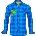 Ortovox men s rock n wool cool shirt long sl blue ocean