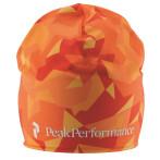 Peak performance trail print hat hot orange print