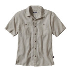 Patagonia men s back step shirt punjab bleached stone