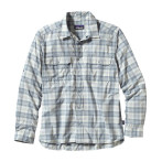 Patagonia men s l s el ray shirt haircutter birvh white
