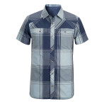 Black diamond m ss technician shirt indigo aluminium plaid