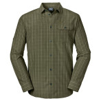 Jack wolfskin tasman shirt m burnt olive checks