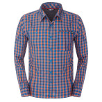 The north face m l s gilgit shirt persian orange plaid
